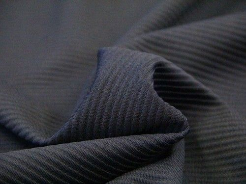 An excellent ponte roma weight jersey dressmaking fabric with an embossed ridge - £10/m