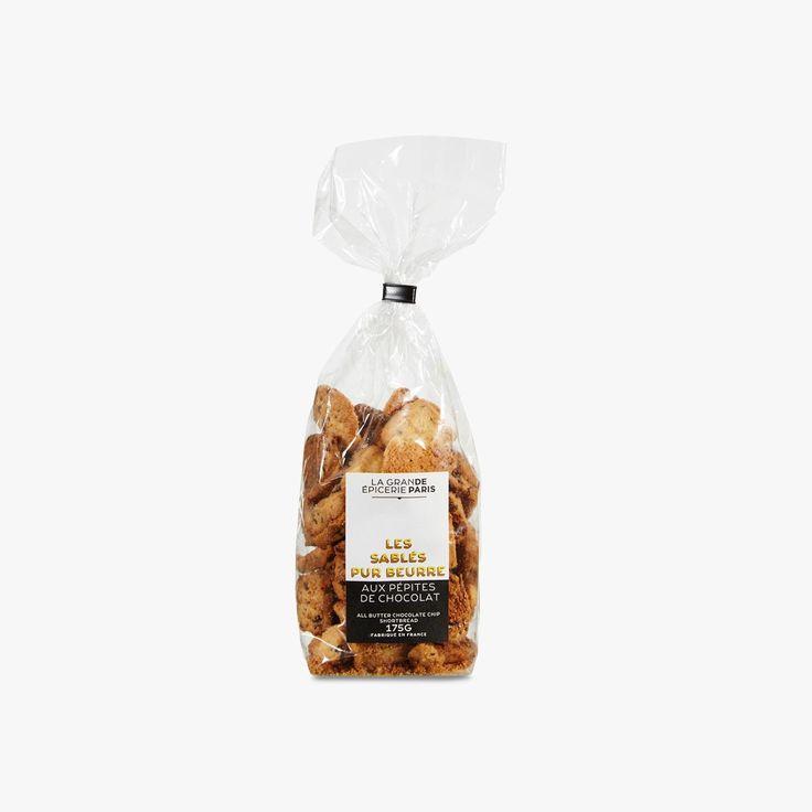 Sablés pur beurre aux pépites de chocolat - La Grande Epicerie de Paris - Find this product on Bon Marché website - La Grande Epicerie de Paris