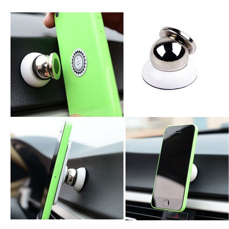 Universal Mobile Phone 360 Degree Rotating In Car Magnetic Mount Holder Stand