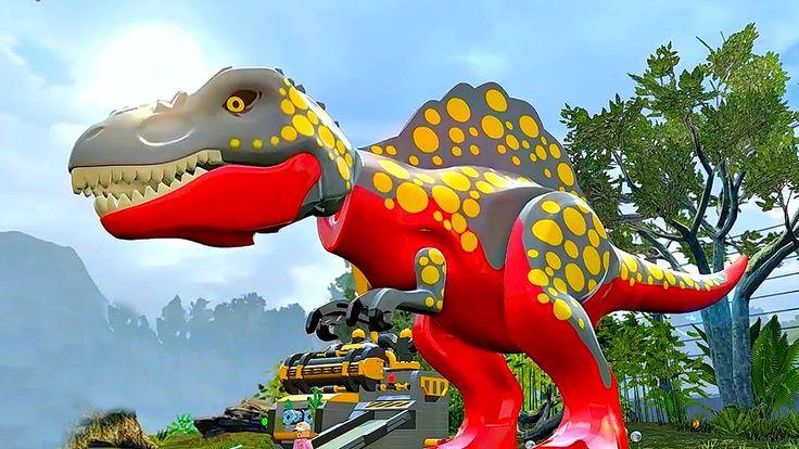 Jurassic World Lego.Тирекс и Тирексы.Игры Мультики про Динозавров.Парк Ю...