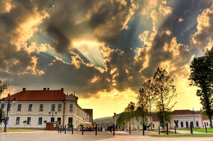 ~ Part of my beautiful hometown... ~  HDR tone-mapped image  Location: Custozza park, Alba Iulia — at Cetatea Alba Iulia.