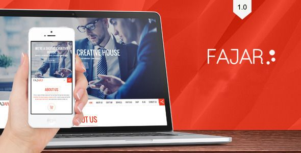 Fajar one page creative theme - Creative Drupal