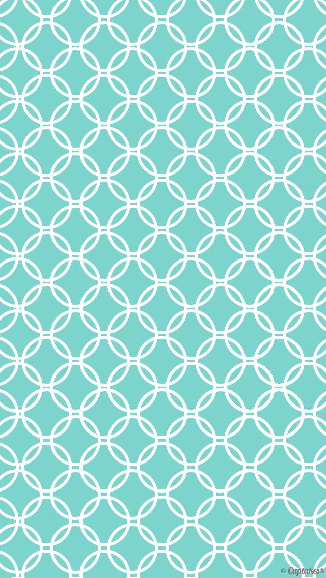 Turquoise blue green white quatrefoil geometric iphone phone wallpaper background lock screen