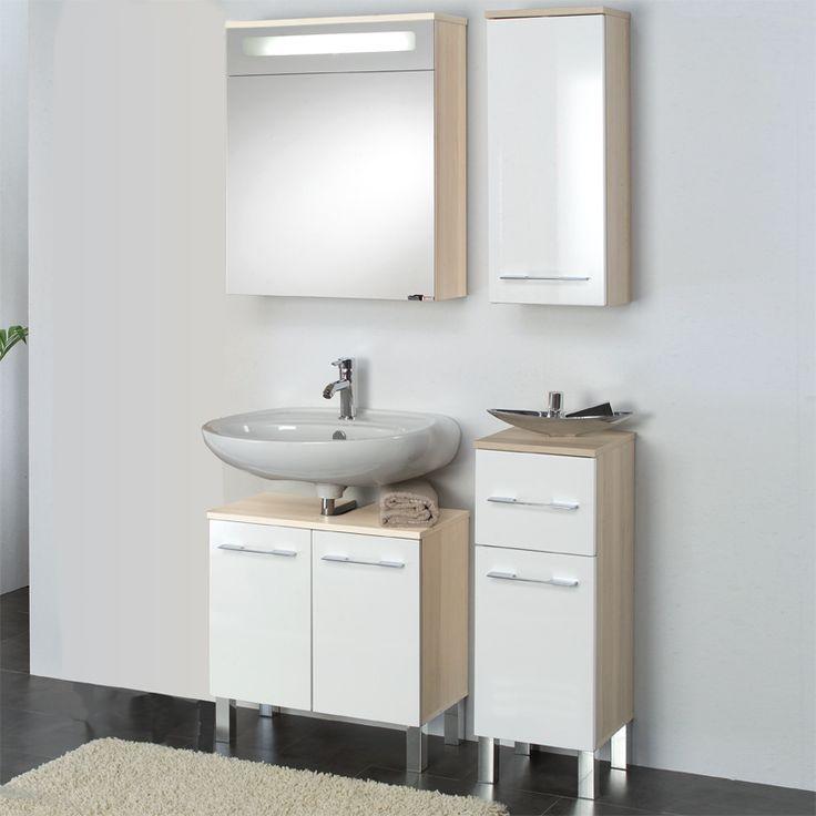 Badezimmer 4 Tlg »CAMPUR« In Hochglanz Weiß   Esche Jetzt Bestellen Unter:
