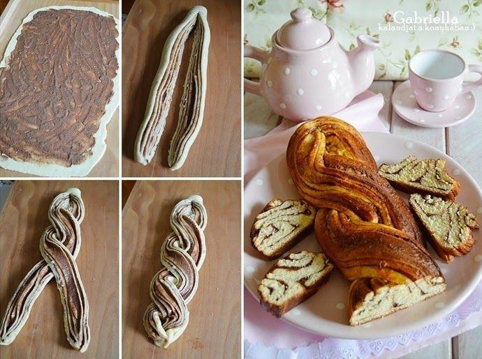 Gabriella kalandjai a konyhában :): Kakaós-diós fonat