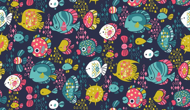Funny Fish pattern via katuno.com