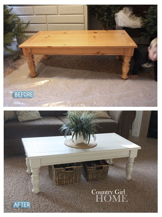Update your coffee table with a simple coat of white paint... next project.