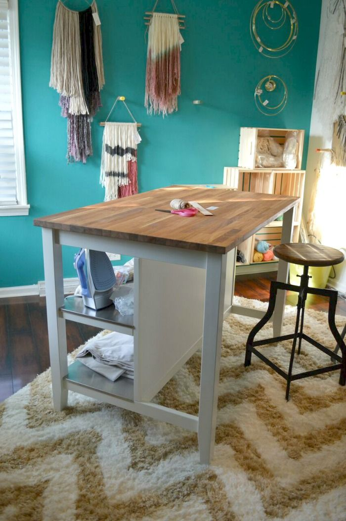 Alternative Uses For An Ikea Kitchen Island Crafting Desk