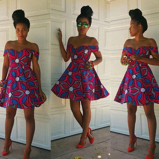 Beautiful Ankara Short Gown Design - http://www.dezangozone.com/2016/01/beautiful-ankara-short-gown-design.html DeZango Fashion Zone