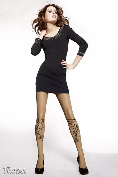 Punčocháče Gatta Missy Ann 03 - tělové silonky se vzorem tetování