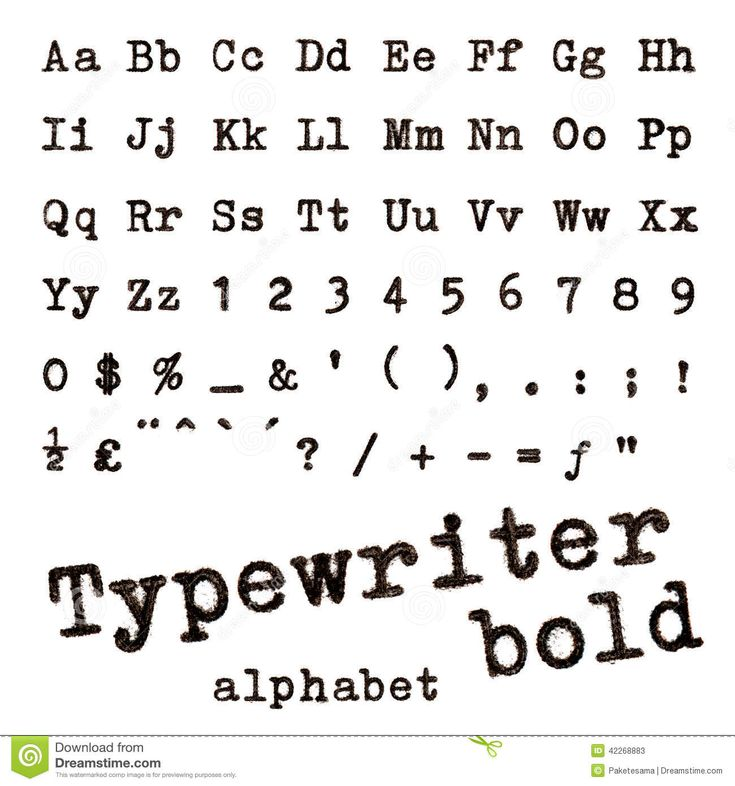 Resultado de imagem para letra de maquina de escrever