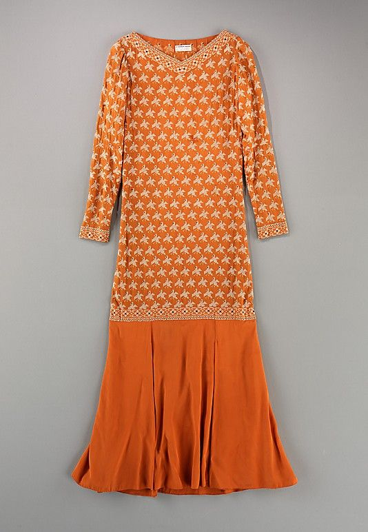 Dress 1925, American, Made of silk
