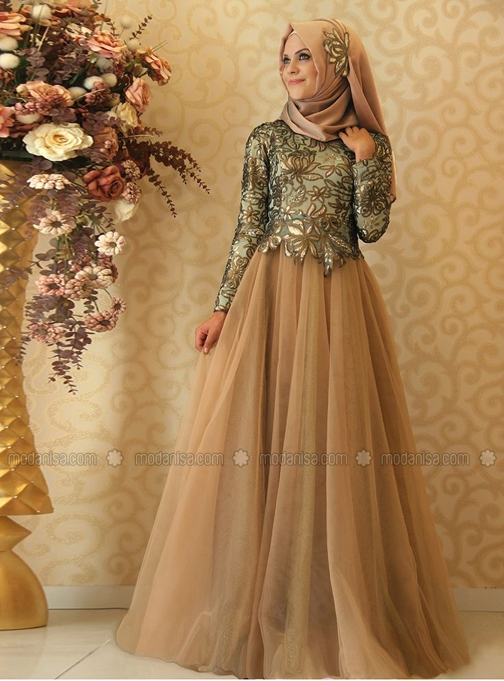 Eliz Evening Dress - Turquoise - Gamze Polat