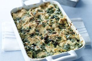 Baked Triple-Veggie Dip. Spinach, artichokes, and asparagus. Three of my favorite veggies in one dish!