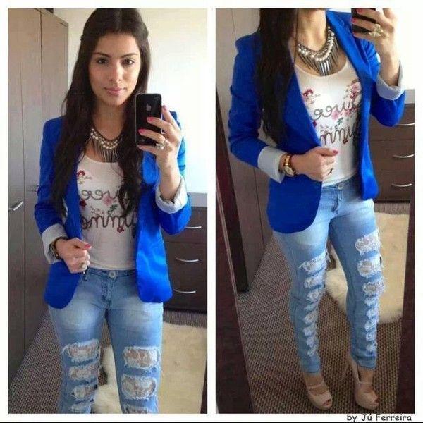 jacket jeans shirt