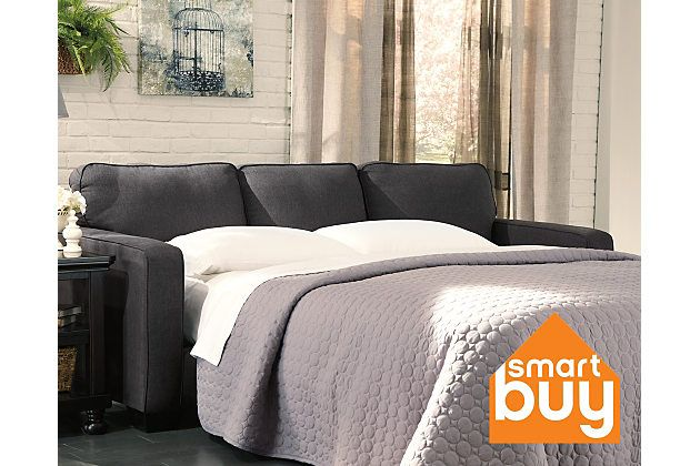 Charcoal Alenya Queen Sofa Sleeper Width 84 Depth 37 5