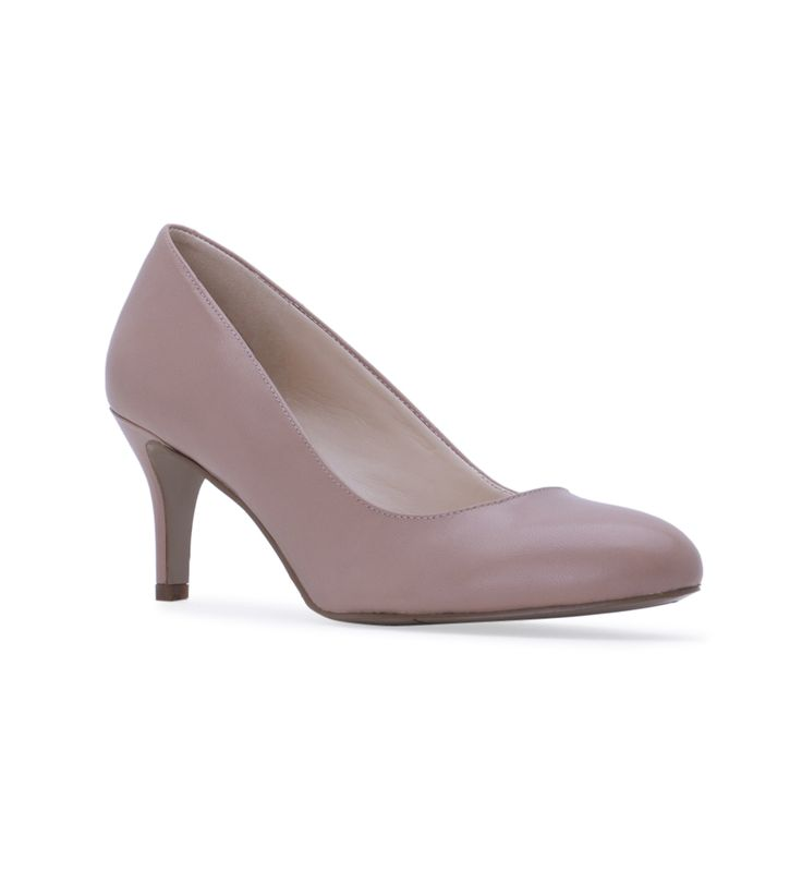 Women's NINE WEST Applaud Toe Pump - Tan - Classic almond toe pump with  2.75
