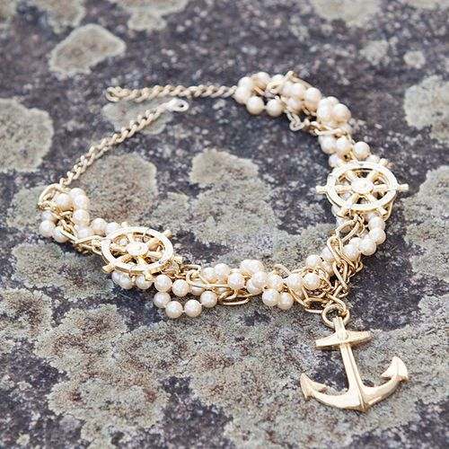 anchor and pearls #necklace