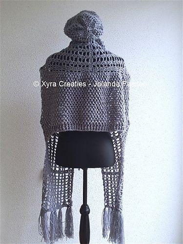 Ravelry: PATR1062 - Scarfvest / vest + Slouchy beanie patroon door Jolanda Faazen