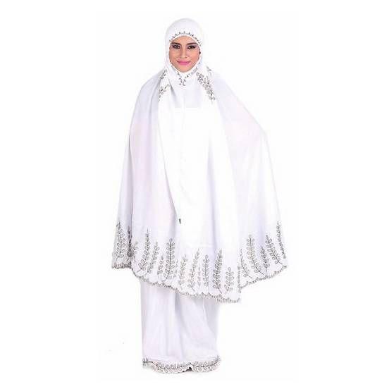 Mukena murah 2016 - Produk mukena cantik model terbaru hias bordir warna putih yang halus dan lembut. Trend harga jual mukena murah 2016 grosir online shop