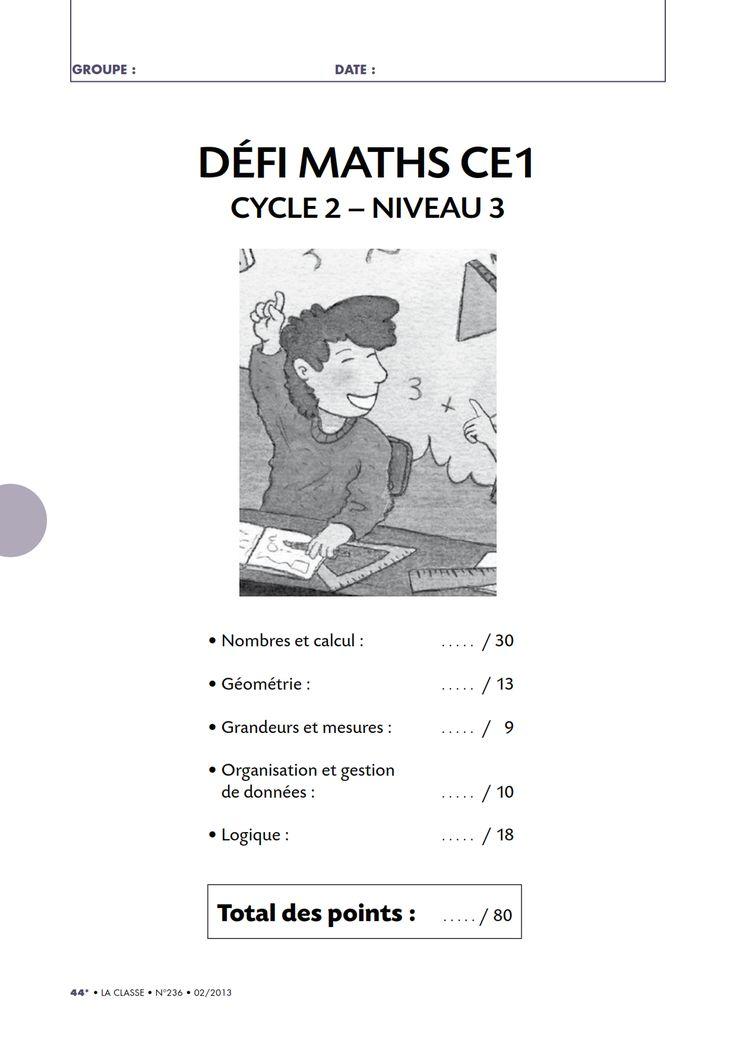 Un défi mathématiques amusant pour tester les connaissances de vos élèves de CE1 en numération, géométrie, logique, gestion de données ou en mesure.