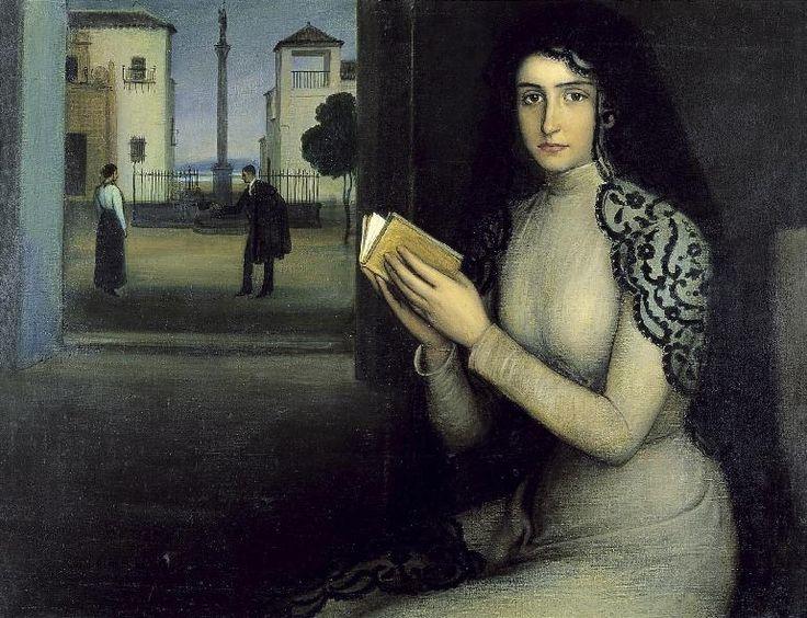 Women Reading - colourthysoul: Julio Romero de Torres - Mujer en...