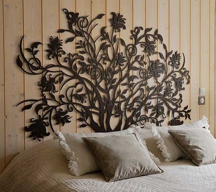 1000 id es sur le th me pochoirs de mur d 39 arbre sur for Decor mural exterieur fer forge
