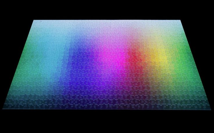 Containing exactly 1,000 colors, which have been cut into a one-thousand piece CMYK gamut, this puzzle appears to be a pretty intimidating challenge. But don't