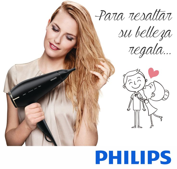 Para resaltar su belleza regala #PHILIPS #DAP #CuidadoPersonalFemenino #Secador http://www.discoveryimport.com/category/cuidado-femenino-7