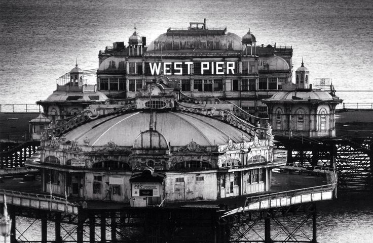 Archive photo of the West Pier, Brighton - The Pier later suffered damage from storms and several fires in 2003 spelled the end of any renovation plans. The skeletal hulk is all that is left.