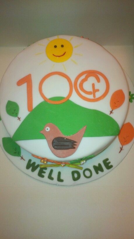 100th Parkrun celebratory cake xx