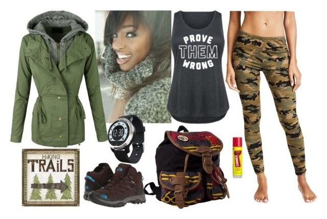 """hike"" by maritabirken ❤ liked on Polyvore featuring Okuma, Carmex, Hanky Panky, The North Face and plus size clothing"
