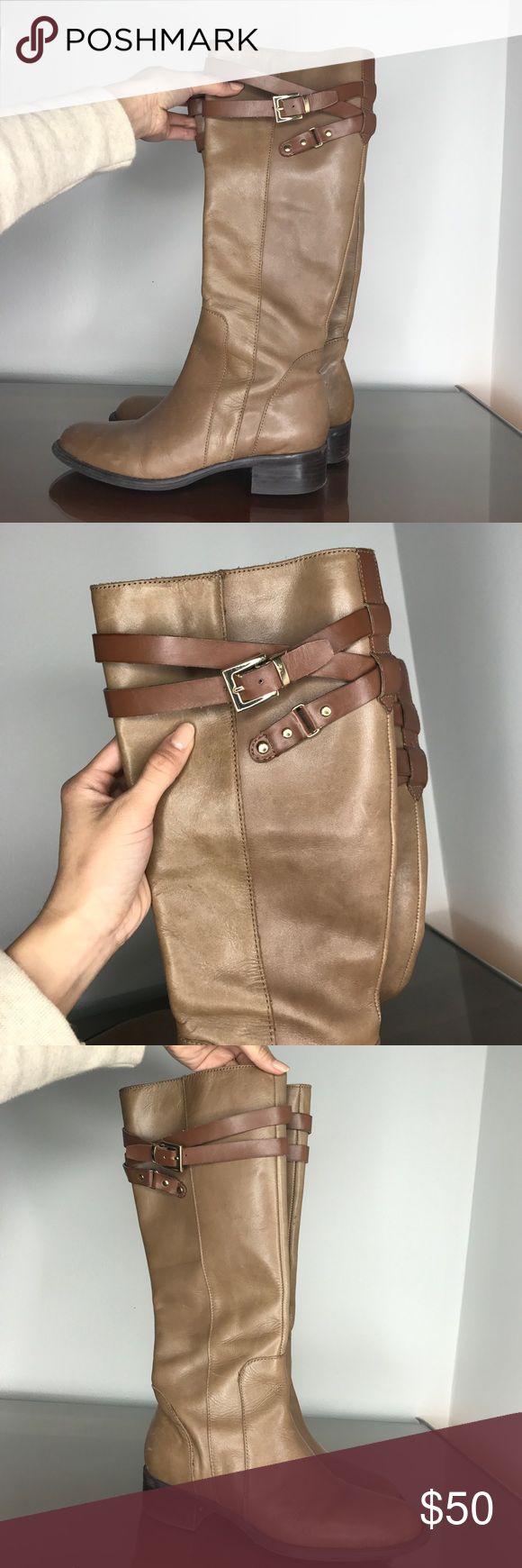 Selling this Tan riding boots on Poshmark! My username is: cwdesign. #shopmycloset #poshmark #fashion #shopping #style #forsale #Franco Sarto #Shoes