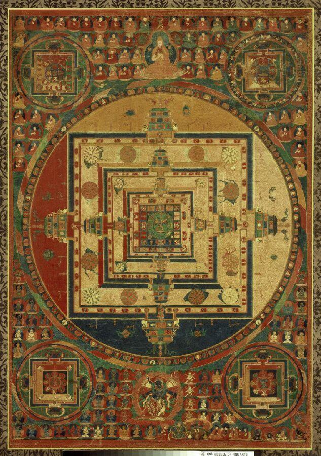 Kalachakra Mandala, Tibet, 1600-1699, Museum of Fine Art, Boston