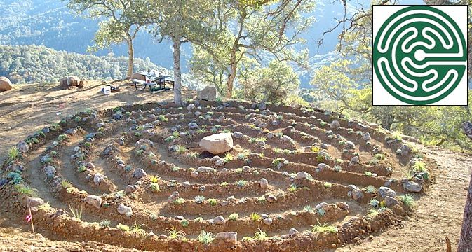 1000 images about labyrinths on pinterest maze for Garden labyrinth designs
