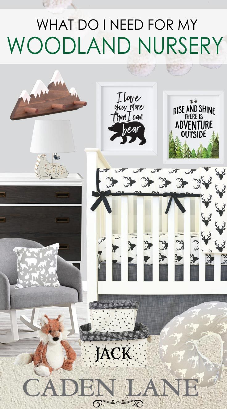 That bedding and that art work need to be in a baby boy's room! We <3 a good woodland nursery.