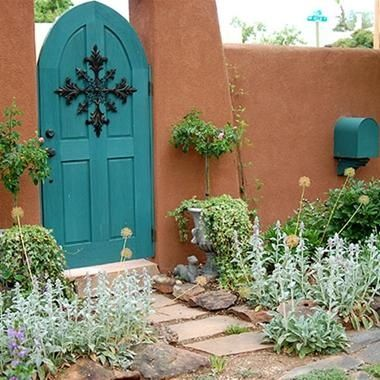 Adobe Courtyard. I really like the blue accents