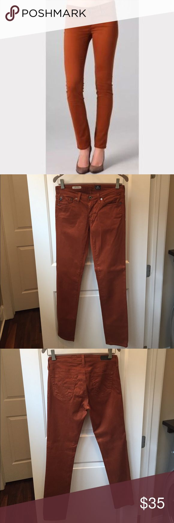AG The Stilt Cigarette Jean, Size 26R. AG The Stilt Cigarette Jean, Size 26R Great condition. On tread rust color. Ag Adriano Goldschmied Jeans Skinny