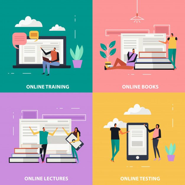 Download Online Education Flat For Free In 2020 Student Cartoon