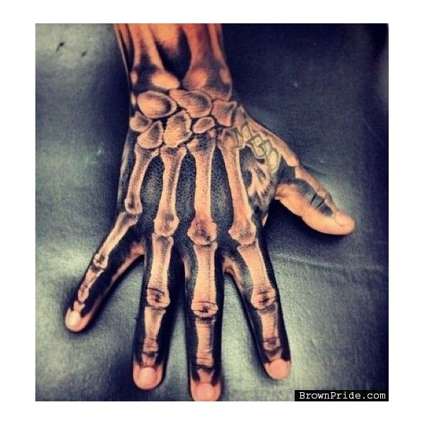 (39) Crazy Hand Skeleton Tattoo   tattoo   Pinterest ❤ liked on Polyvore featuring accessories and body art