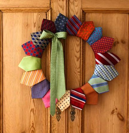I recently selecteda bunch of my Dad's suit ties and wanted to make something with them...super cute ideas here!