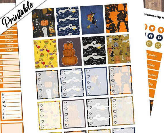 #Halloween Party #October Weekly Kit #printable #planner #stickers by Ichiprintables https://www.etsy.com/listing/563068303/halloween-party-weekly-kit-wicked-weekly?utm_content=bufferfb895&utm_medium=social&utm_source=pinterest.com&utm_campaign=buffer #planneraddict #digital #pdf