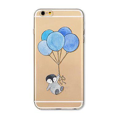 Etui til iphone 7 pluss 7 deksel gjennomsiktig mønster bakdeksel case tegneserie dyr ballong myk tpu for iphone 6s pluss 6 pluss 6s 6 se – NOK kr. 310