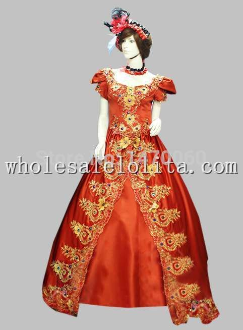>> Click to Buy << 17 18th Century Marie Antoinette Era Court Poplin Red Long Trailing  Dress #Affiliate