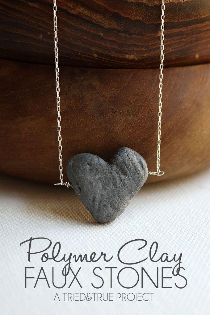Faux Stone Jewelry with Polymer Clay