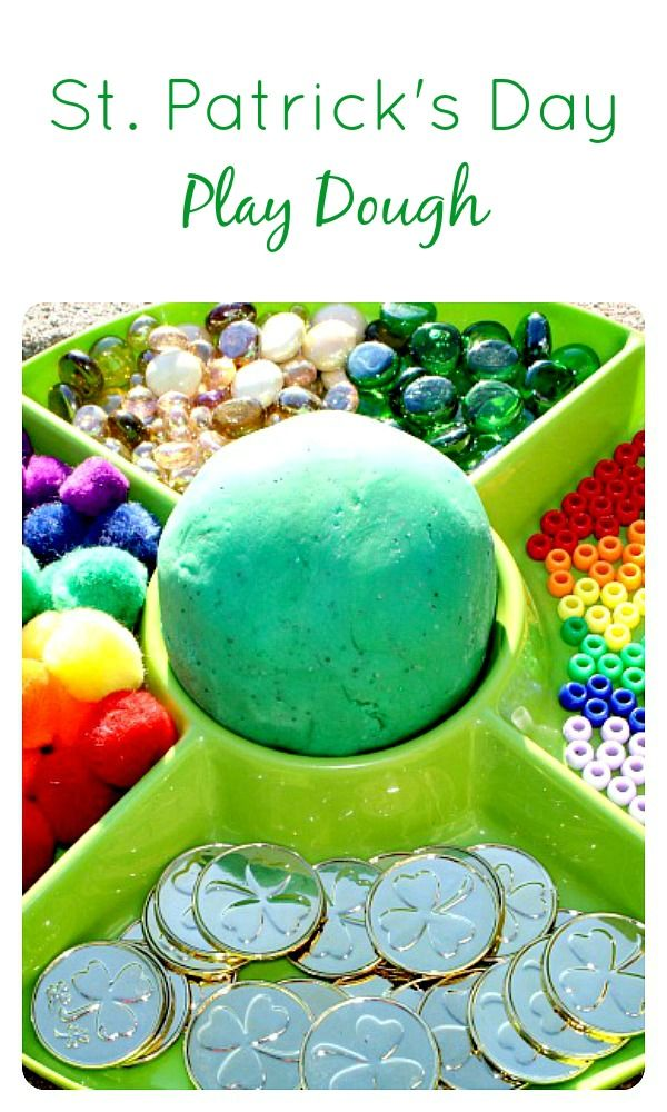 St. Patrick's Day Play Dough for #Kids