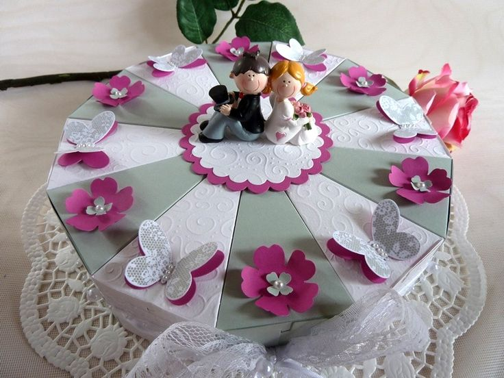 Geldgeschenke - Hochzeitstorte/Schachteltorte/Geldgeschenktorte  - ein Designerstück von IdeenOase bei DaWanda