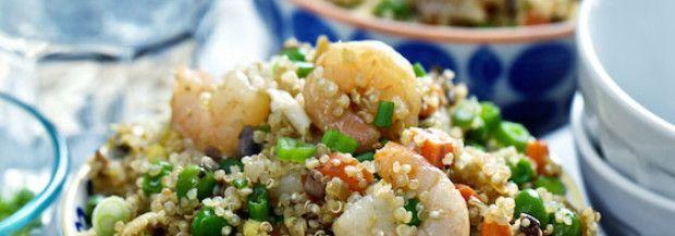"""Quinoa & Shrimp """"Fried Rice"""""""