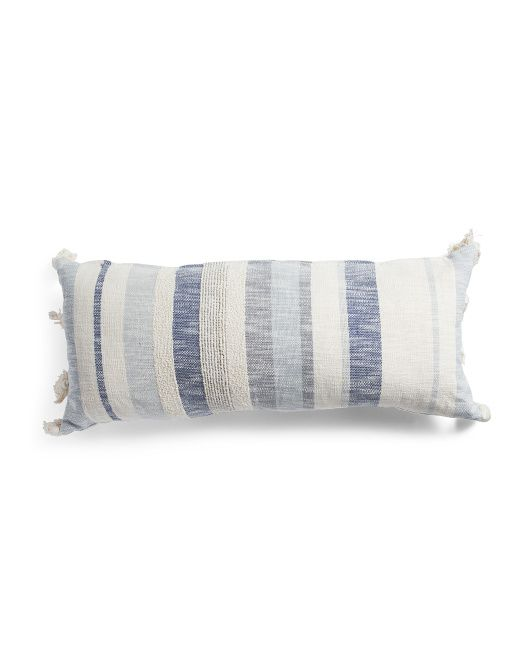 Made In India 14x26 Fringe Pillow