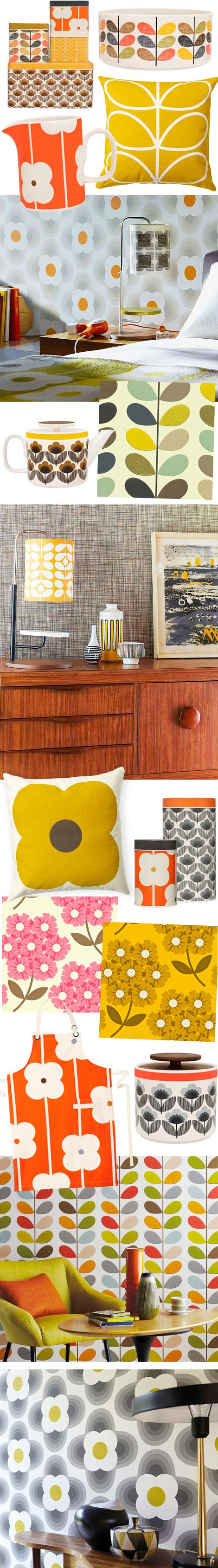 Orla Kiely's behangpapier en homeware collectie in België / www.woonblog.be